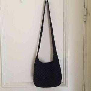 Handbags - Knit navy blue crossbody/shoulder bag