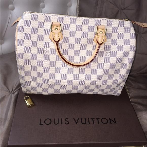 3160ddb6f1f6 Louis Vuitton Speedy 35 Azur on Poshmark