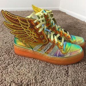 Jeremy Scott x Adidas Shoes - Jeremy Scott foil adidas Sneakers