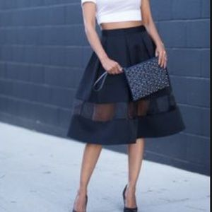 Express midi skirt with mesh insert size 00