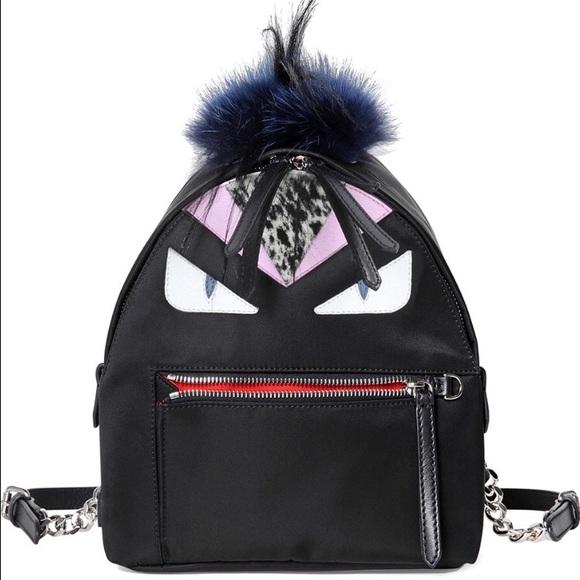 Fendi Handbags - Fendi - Mohawk Monster Backpack Bag e39bf2c7aef09