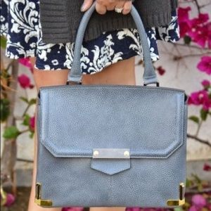 Alberta di canio gray leather handbag