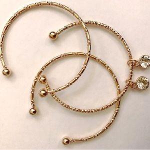 ❤BOGO 3pc Gold Charm bracelet