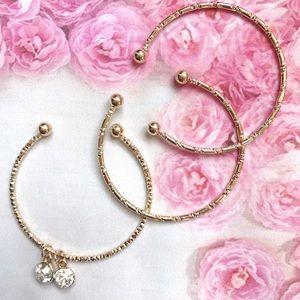 Jewelry - 3pc Gold Charm bracelet