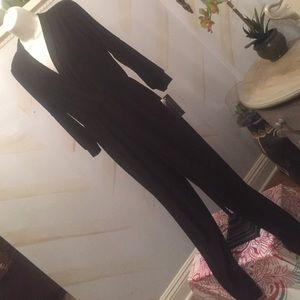 ashley blue  Pants - Sexy Black cold shoulder jumpsuit