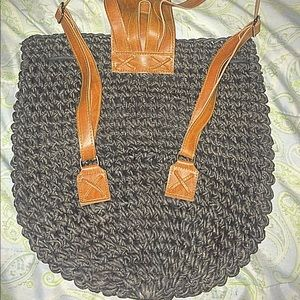 Gorgeous woven backpack in good condition