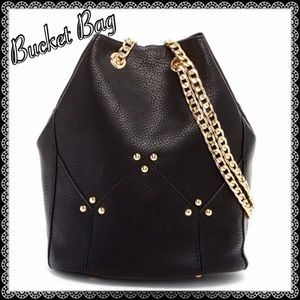 B2G1 FREEPink Haley Black Bucket  Bag