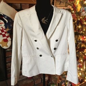 Nine West suit top.  White with great button detai
