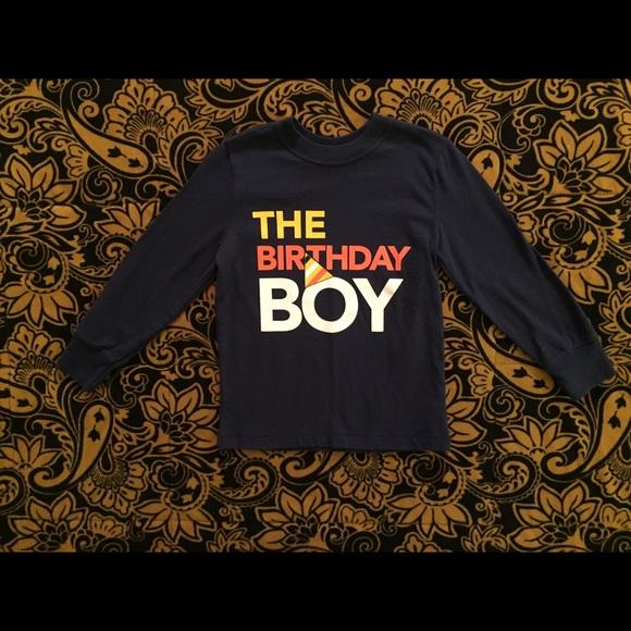 GUC Sz 4T L Sleeve The Birthday Boy Shirt