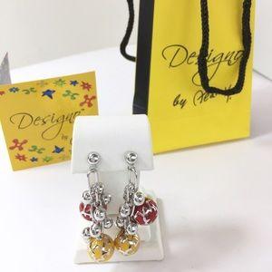 Alan K Jewelry - Sterling Silver rhodium dangle earrings Alan K