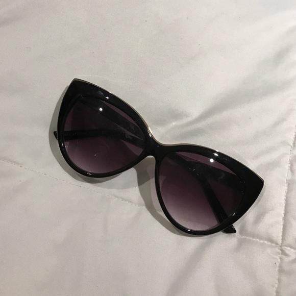 ea2dec9caf6714 Aldo Accessories | Black Gold Cat Eye Sunglasses | Poshmark
