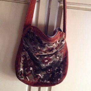 Vintage Velvet tapestry Bag