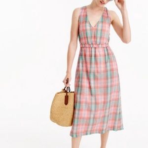 J.Crew cross-back dress in vintage plaid