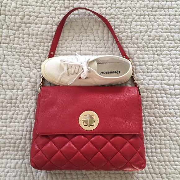 89% off kate spade Handbags - Kate Spade red quilted leather ... : kate spade red quilted bag - Adamdwight.com