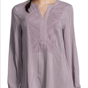 Mandarin collar tunic- Lavender