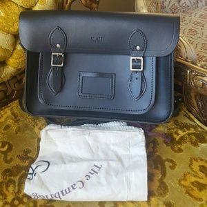Cambridge Satchel Handbags - Cabridge satchel black monigrammed KAT