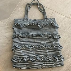 Gap soft striped bag with ruffles