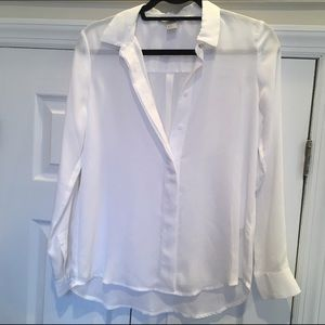 White silly button down blouse
