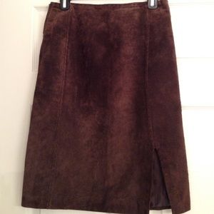 John Galliano Dresses & Skirts - JOHN GALLIANO SUEDE SKIRT!