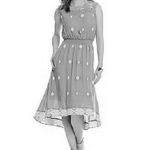 Nurture Dresses & Skirts - Black and white high low embroidered dress