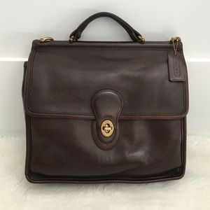 Vintage Coach Legacy Brown Willis Station Bag