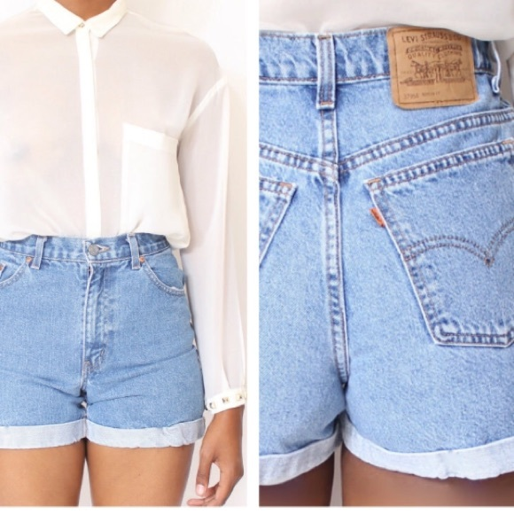 63b60b8b3f1622 Levi s Pants - Levi s vintage high waisted mom jeans shorts