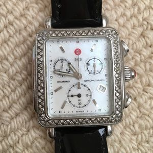 Michele Accessories - Michele mother-of-pearl Deco Diamond watch