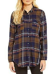 SALE! Plaid button down tunic NWOT