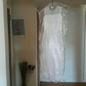 Pink princess laced white dress