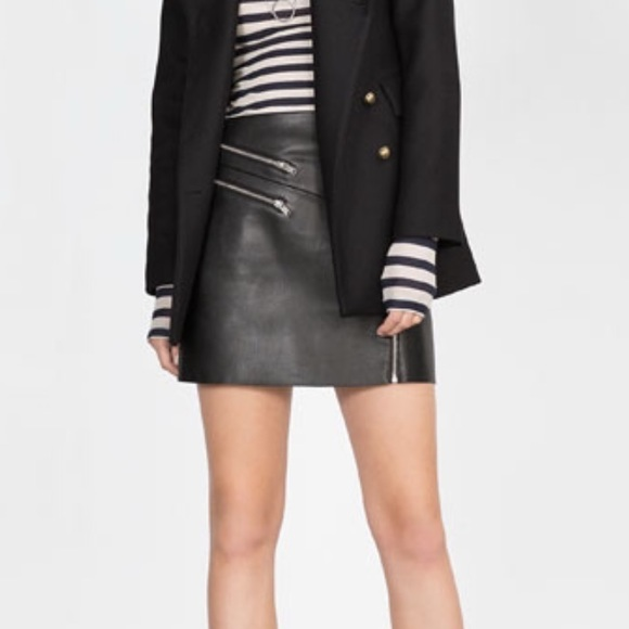 44% off Zara Dresses & Skirts - Zara faux leather zip detail skirt ...