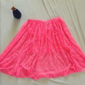 Neon Pink Skirt!