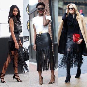 Muubaa Dresses & Skirts - 🎉HP🎉MUUBAA Black Suede Fringe Skirt