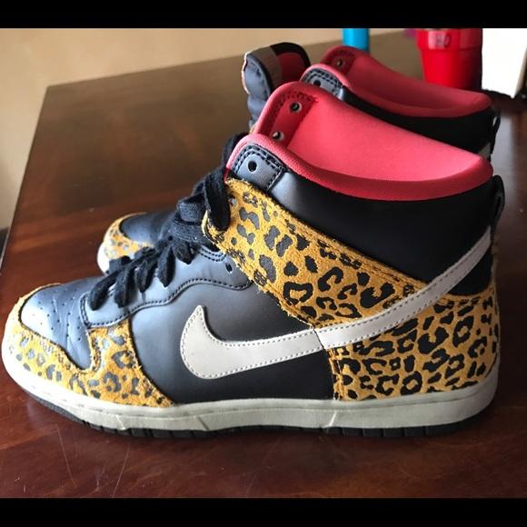 Nike scarpe   Dunk High Leopard Print Size 9   Poshmark