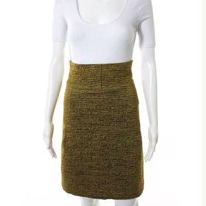 Akris Dresses & Skirts - Akris Gold tweed skirt sz 8 pleated
