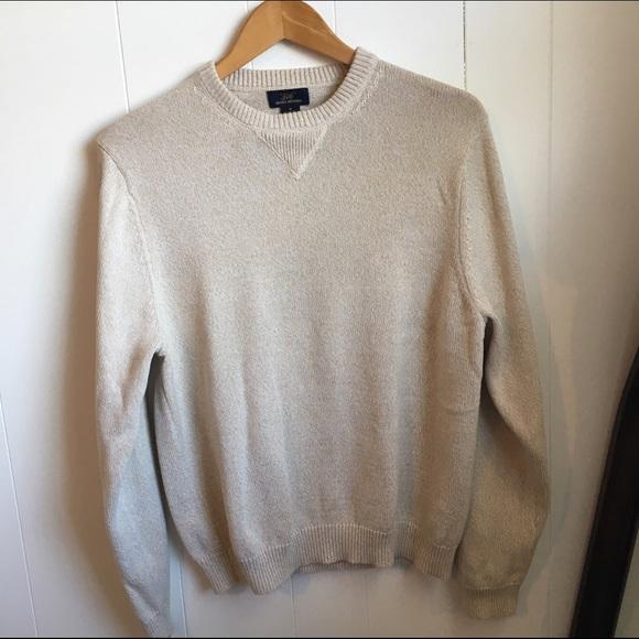 "Brooks Brothers - Brooks Brothers ""346"" cotton crew neck sweater ..."