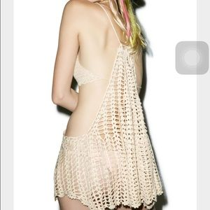 The castaway crochet dress
