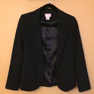 Black boyfriend blazer with 3/4 sleeves