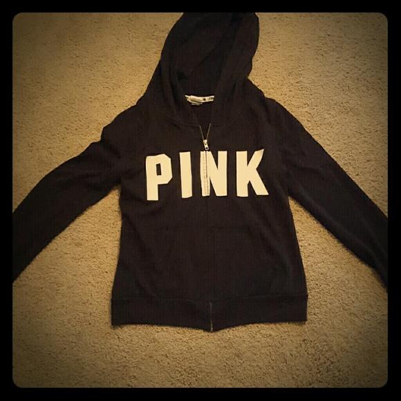 Pink Victoria S Secret Sweaters Black Pink Sweater Zip Up Victoria