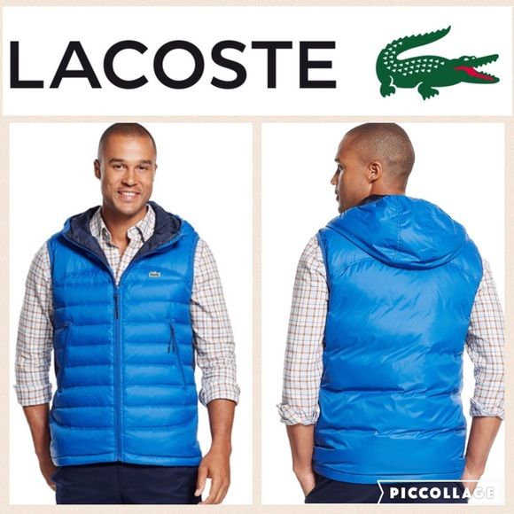 3749f6e7ff30 Lacoste Lightweight Quilted Down Vest Blue S