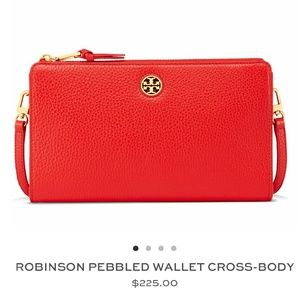 Tory Burch Handbags - !HP! Tory Burch Robinson Pebbled Wallet Crossbody