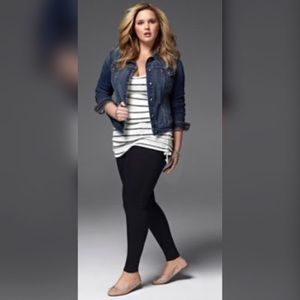 Pants - Plus Size Black Leggings