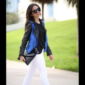 Black and blue jacket. Brand: unknown