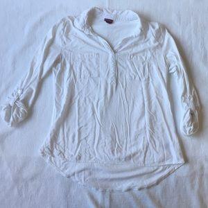 Target's Merona White 3/4 Sleeve Shirt