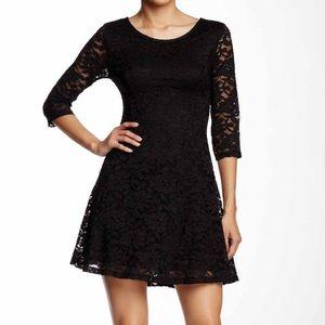 Lush Dresses & Skirts - Lace black dress XS