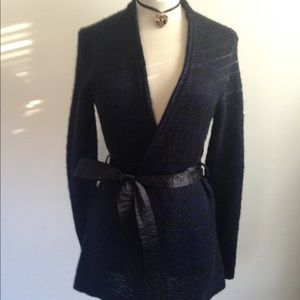 Narciso Rodriguez Sweaters - NARCISO RODRIGUEZ BELTED CARDIGAN  SIZE S