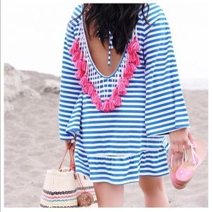 Beach Cover-up Dress with Tassels