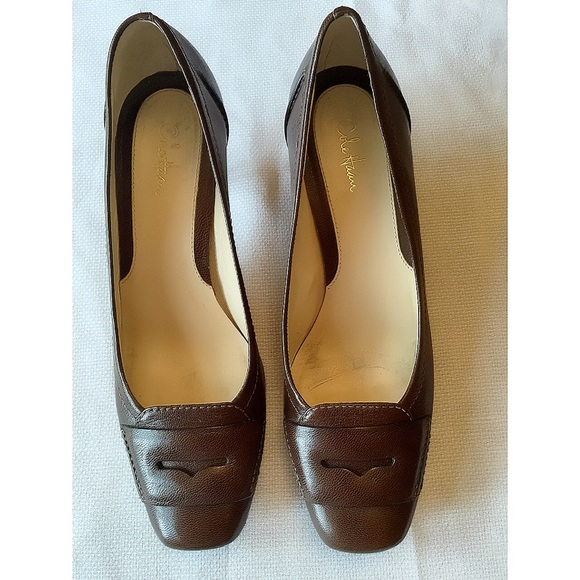 reliable best sale cheap price Cole Haan Woven Leather Loafer Pumps ZxaNLR77j
