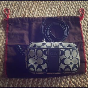 Coach Waist Bag Fanny Pack Belt Bag Black & Gray