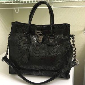 MICHAEL Michael Kors Handbags - Michael Kors - Jewel Black Hamilton NS large