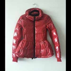 Never worn: ARMANI EXCHANGE red puffer jacket
